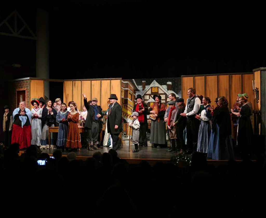 Company of Treehouse Arts' A Christmas Carol taking final bows.